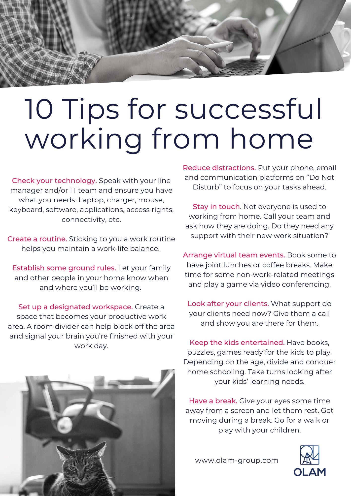 10 Tips for successful working from home