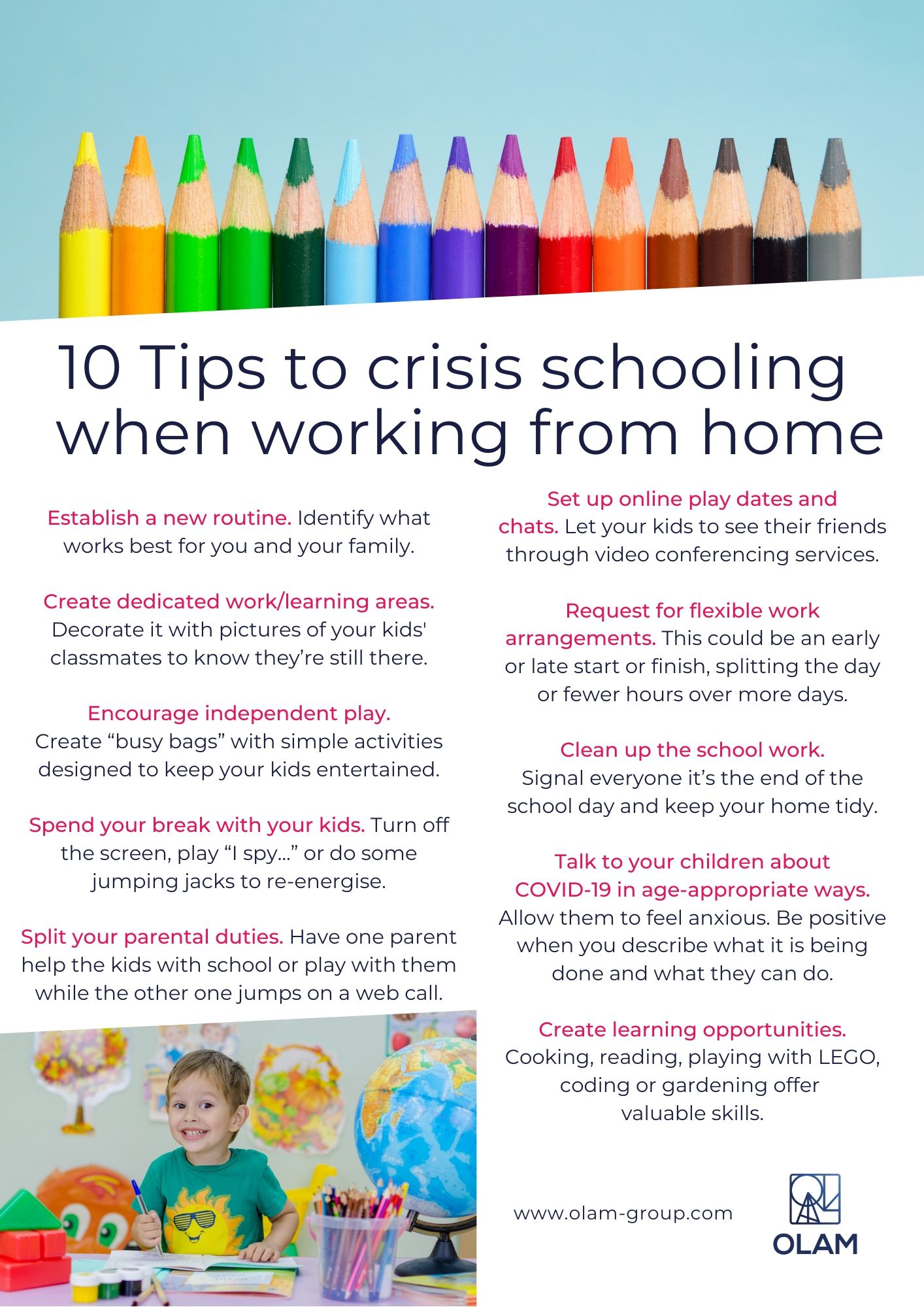 10 Tips to crisis schooling when working from home