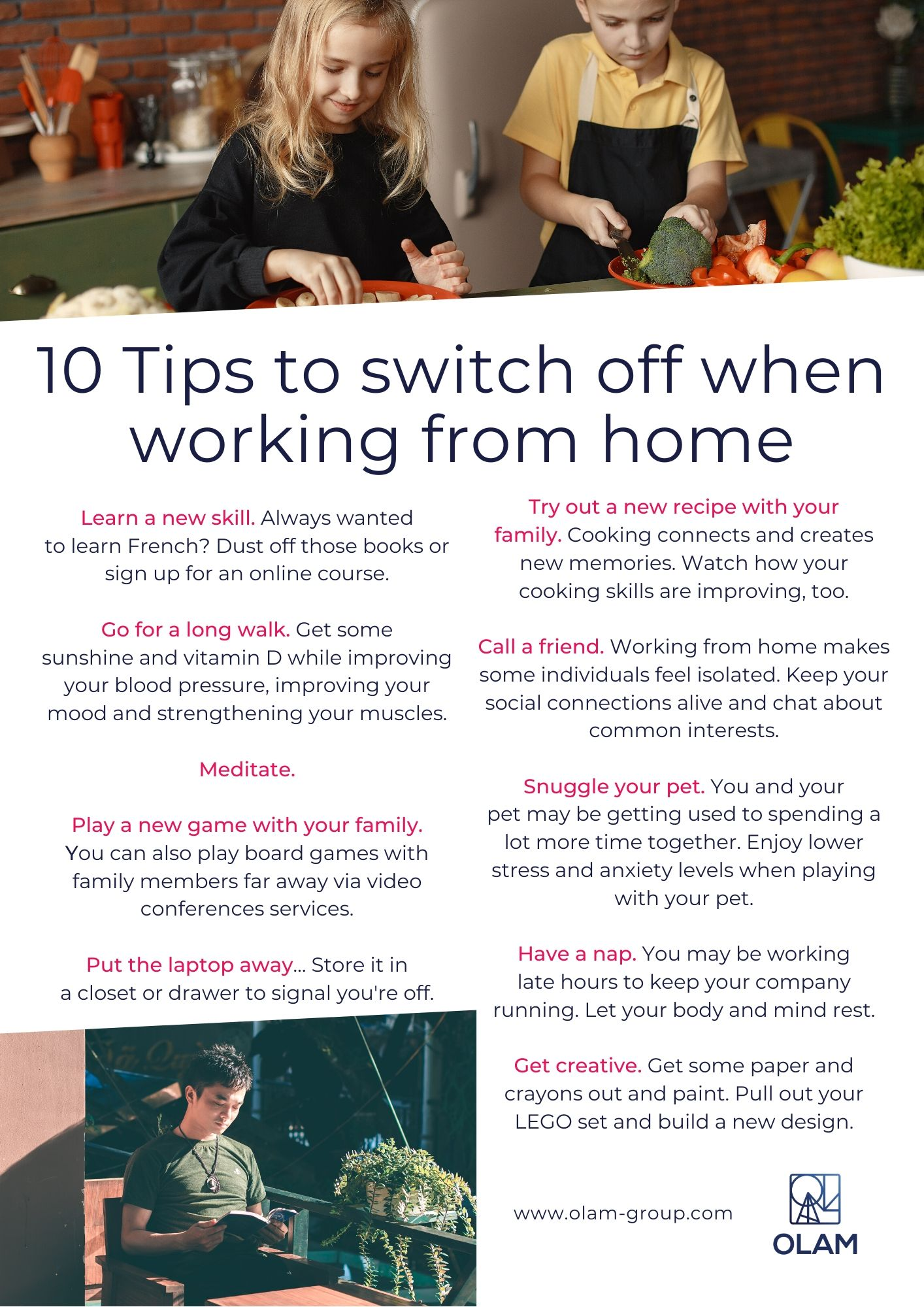 10 Tips to switch off when working from home
