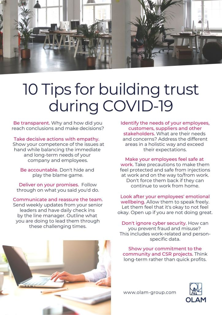 10 Tips for building trust during COVID-19