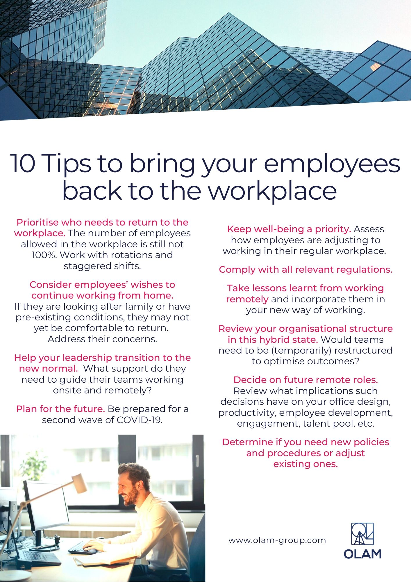 10 Tips Return to Workplace