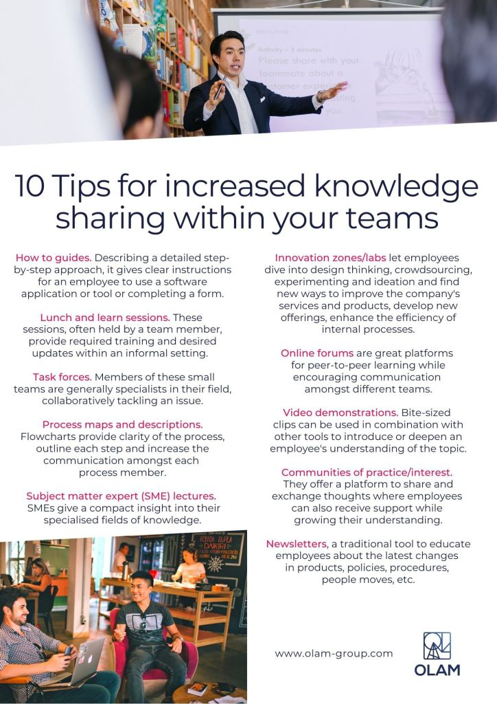 10 Tips for increased knowledge sharing within your teams