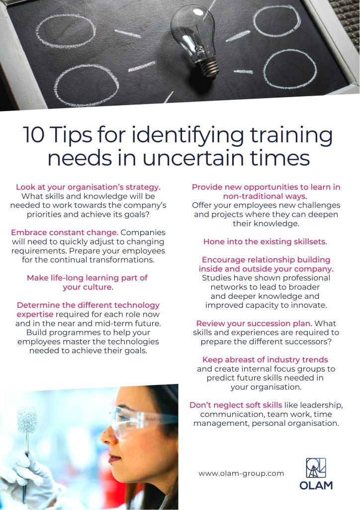 10 Tips for identifying training needs in uncertain times