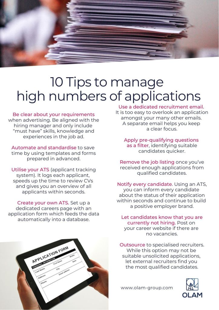 10 Tips to Manage high numbers of applications