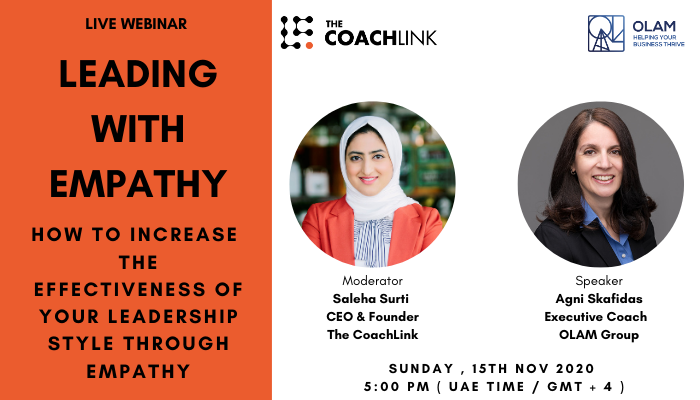 "Upcoming Webinar ""Leading with Empathy"""