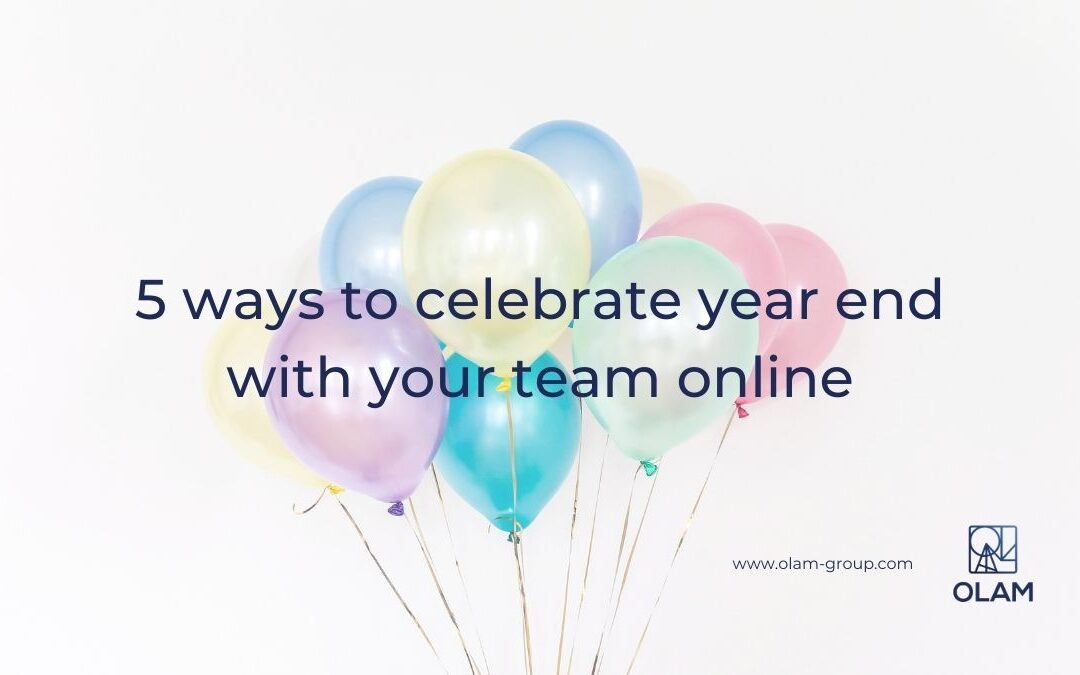 5 ways to celebrate year end with your team online