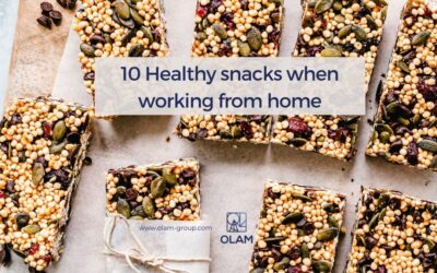 10 Healthy snacks when working from home