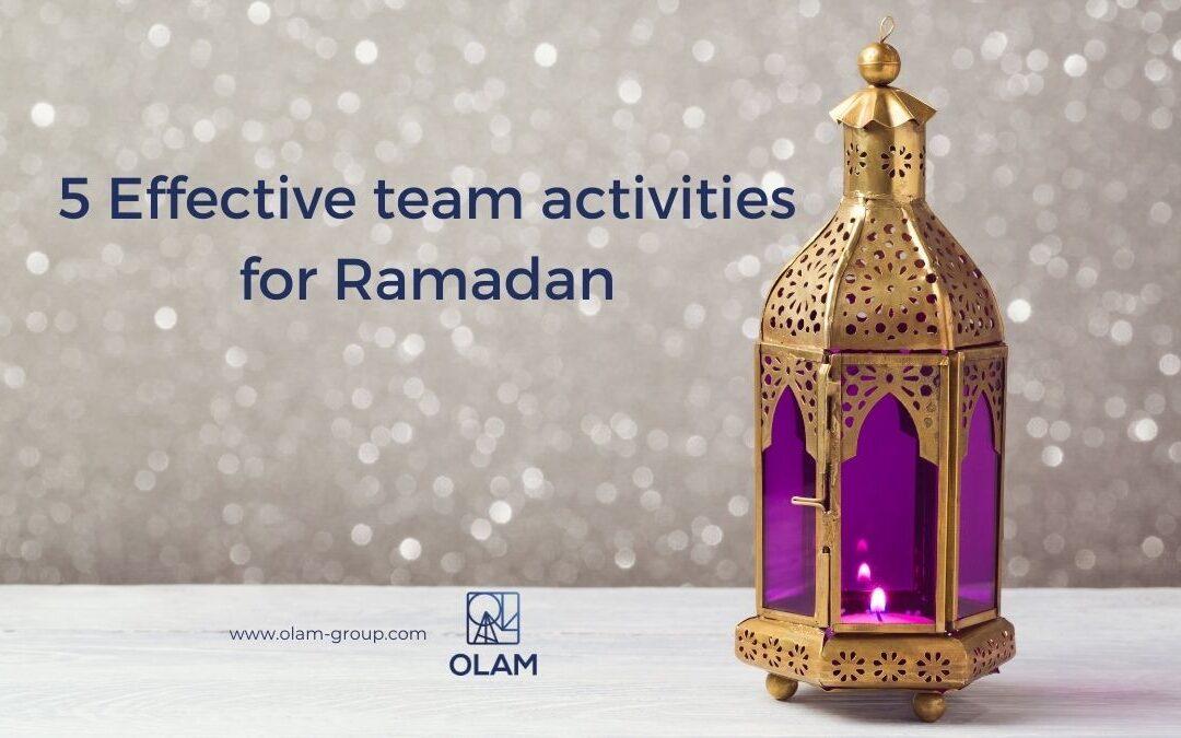 5 Effective team activities for Ramadan