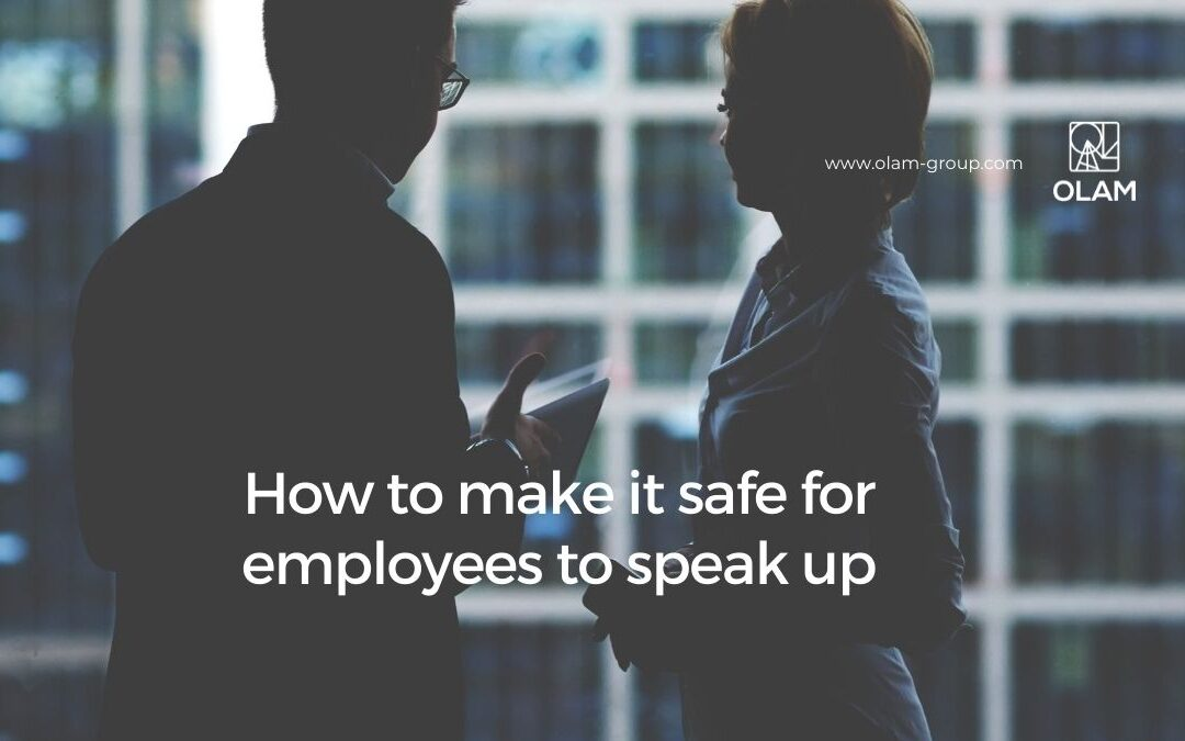 How to make it safe for employees to speak up